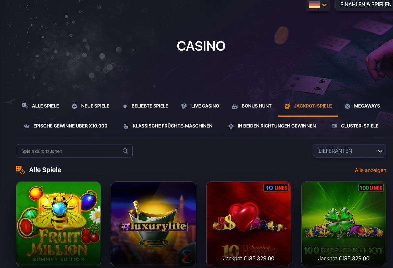 Praise Casino Spiele